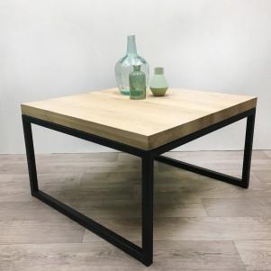 """Eiken salontafel """"Austin"""" 80x80cm"""