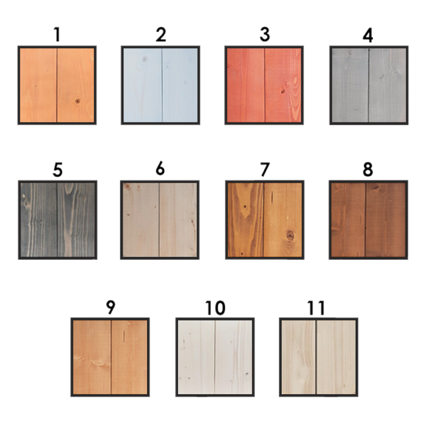 Kleurstalen hout (3 st.)